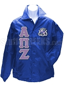 Alpha Pi Zeta Greek Letter Line Jacket with Crest, Royal Blue