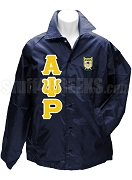 Alpha Psi Rho Greek Letter Line Jacket with Crest, Navy Blue