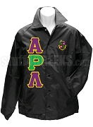 Alpha Rho Lambda Greek Letter Line Jacket with Crest, Black