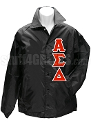 Alpha Sigma Delta Greek Letter Line Jacket, Black