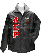 Alpha Sigma Rho Greek Letter Line Jacket with Crest, Black