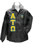 Alpha Tau Omega Greek Letter Line Jacket with Crest, Black