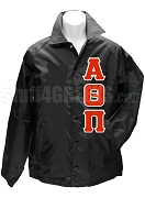Alpha Theta Pi Greek Letter Line Jacket, Black