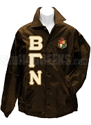 Beta Gamma Nu Greek Letter Line Jacket with Crest, Brown