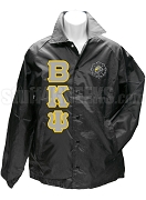 Beta Kappa Psi Greek Letter Line Jacket with Crest, Black