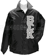 Beta Sigma Kappa Greek Letter Line Jacket, Black