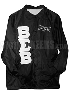 Buffalo Soldier Greek Letter Line Jacket with Crest, Black