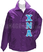 Chi Nu Alpha Letter Line Jacket, Purple