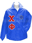 Chi Phi Line Jacket with Greek Letters and Crest, Royal Blue