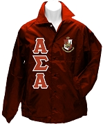 Alpha Sigma Alpha Greek Letter Line Jacket with Crest, Maroon