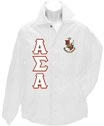 Alpha Sigma Alpha Greek Letter Line Jacket with Crest, White