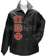 Pi Beta Phi Greek Letter Line Jacket, Black