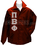 Pi Beta Phi Greek Letter Line Jacket, Crimson