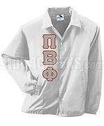 Pi Beta Phi Greek Letter Line Jacket, White