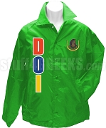 Daughters Of Isis Greek Letter Line Jacket with Crest, Kelly Green