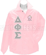 Delta Phi Sigma Greek Letter Line Jacket with Crest, Pink