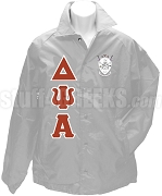Delta Psi Alpha Greek Letter Line Jacket with Crest, Gray