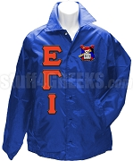 Epsilon Gamma Iota Greek Letter Line Jacket with Crest, Royal Blue