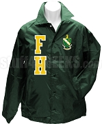 FarmHouse Varsity Letter Line Jacket with Crest, Forest Green