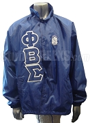 Phi Beta Sigma Royal Blue Crossing Jacket with Letters and Crest