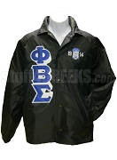 Phi Beta Sigma 3D Letter Line Jacket with 1914 Crest, Black