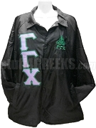Gamma Gamma Chi Greek Letter Line Jacket with Crest, Black