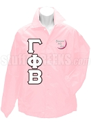 Gamma Phi Beta Greek Letter Line Jacket with Embellished Crescent Moon, Light Pink