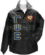Gamma Psi Epsilon Greek Letter Line Jacket with Crest, Black
