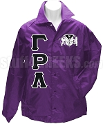 Gamma Rho Lambda Greek Letter Line Jacket with Crest, Purple