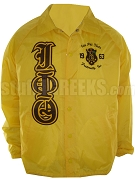 Iota Phi Theta Crossing Jacket with Embellished Crest and Old English Greek Letters, Gold
