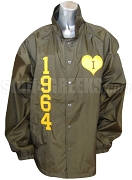 Iota Sweetheart 1964 Line Jacket with Heart Logo, Brown