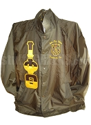 Iota Phi Theta Split Greek Letter Crossing Jacket with Crest, Brown