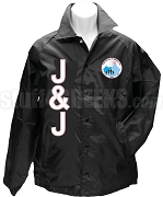 Jack & Jill Letter Line Jacket with Crest, Black