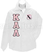 Kappa Alpha Lambda Greek Letter Line Jacket with Crest, White