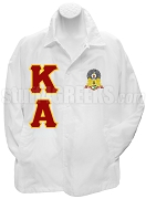 Kappa Alpha Order Line Jacket with Letters and Crest, White