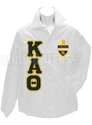 Kappa Alpha Theta Line Jacket with Letters and Crest, White