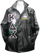 Kappa Delta Chi Greek Letter Line Jacket with Rose Thru and Crest, Black