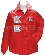 Kappa Epsilon Greek Letter Line Jacket with Crest, Red