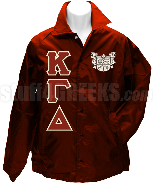 a2a9a34ac9624 Kappa Gamma Delta Greek Letter Line Jacket with Crest, Burgundy