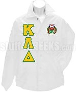 Kappa Lambda Delta Greek Letter Line Jacket with Crest, White