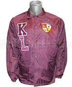 Kappa League Line Jacket with Letters and Crest, Crimson