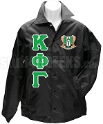 Kappa Phi Gamma Greek Letter Line Jacket with Crest, Black