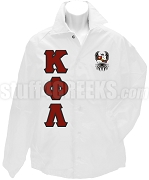 Kappa Phi Lambda Greek Letter Line Jacket with Crest, White