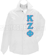 Kappa Zeta Phi Greek Letter Line Jacket, White