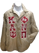 Kappa Alpha Psi Phi Nu Pi Greek Letter Line Jacket with Letters Thru, Tan