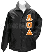 Lambda Omicron Delta Greek Letter Line Jacket, Black