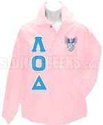 Lambda Omicron Delta Greek Letter Line Jacket with Crest, Pink