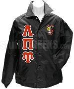 Lambda Pi Upsilon Greek Letter Line Jacket with Crest, Black