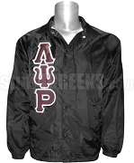 Lambda Psi Rho Greek Letter Line Jacket, Black