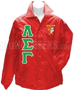 Lambda Sigma Gamma Greek Letter Line Jacket with Crest, Red